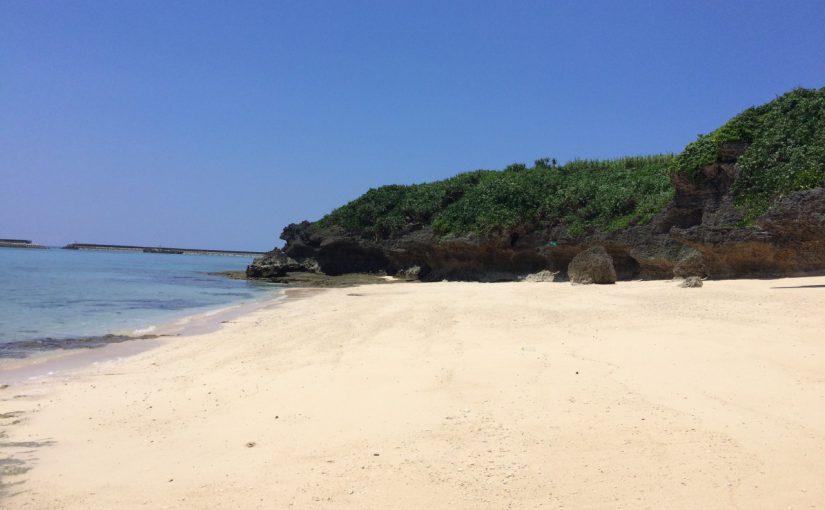 伊江島のビーチは美しい